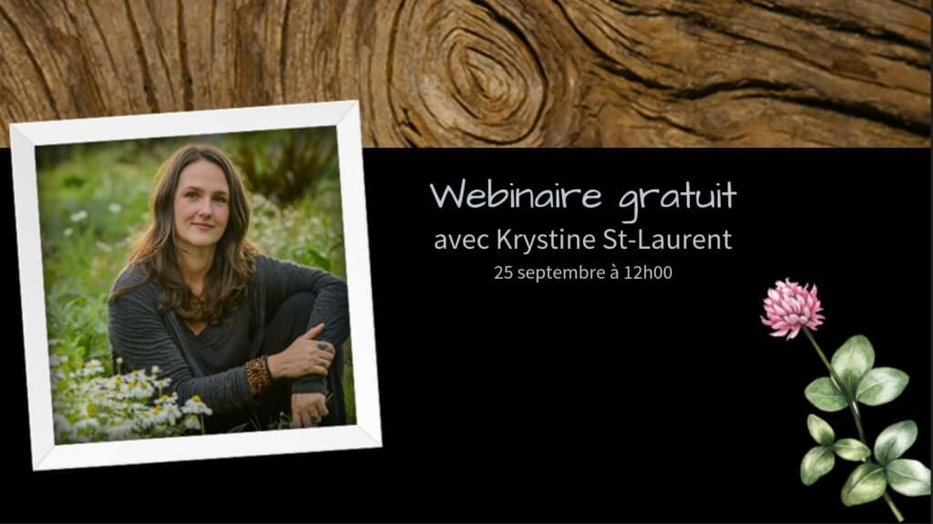 Webinaire Krystine St-Laurent