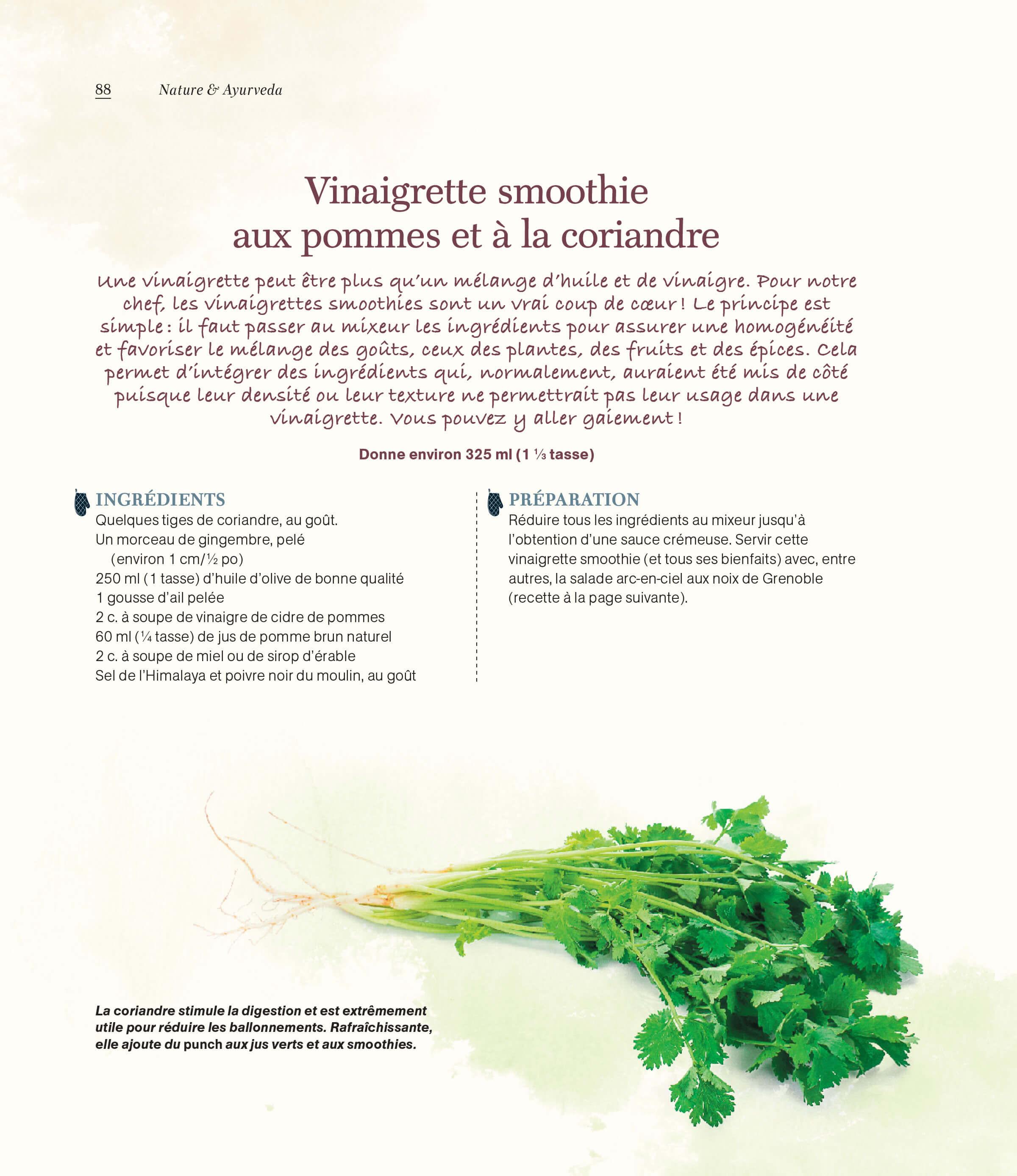 Recette vinaigrette smoothie