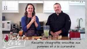 Vinaigrette smoothie aux pommes et coriandre - cover
